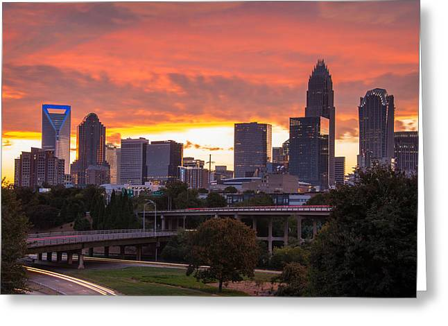 Charlotte Photographs Greeting Cards - Charlotte Sky Greeting Card by Serge Skiba