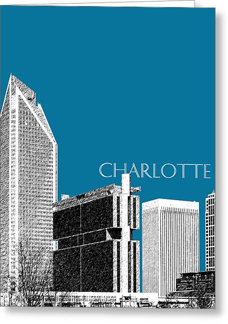 Charlotte Greeting Cards - Charlotte Skyline 1 - Steel Greeting Card by DB Artist