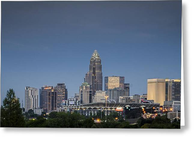 Nc Greeting Cards - Charlotte Skyline - Clear Evening Greeting Card by Brian Young