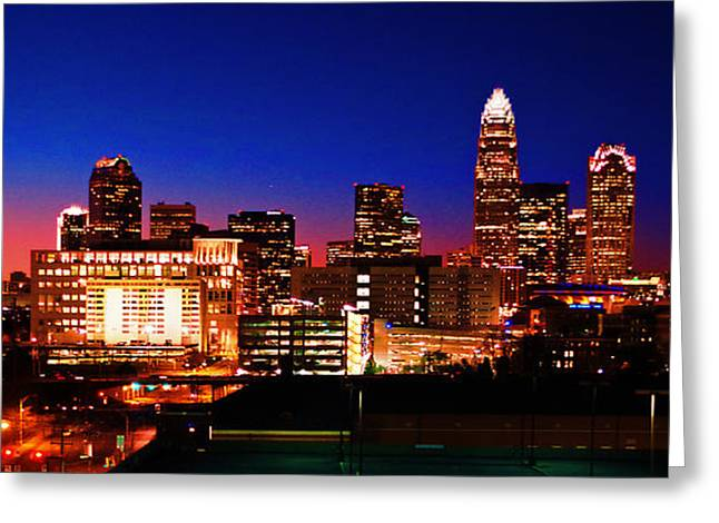 Charlotte Nc Photography Greeting Cards - Charlotte Skyline Greeting Card by Preston Sandlin