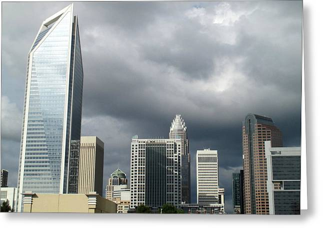 Charlotte Uptown Greeting Cards - Charlotte Skyline Greeting Card by Randall Weidner