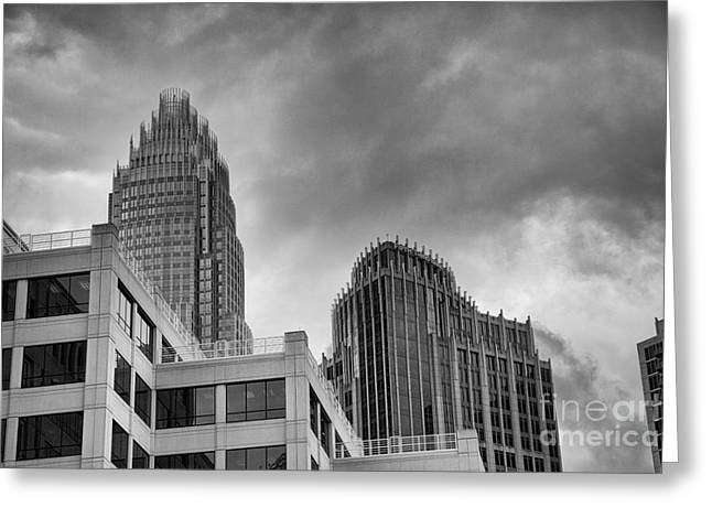 Charlotte Homes Greeting Cards - Charlotte Skyline  Greeting Card by Stephen McCabe