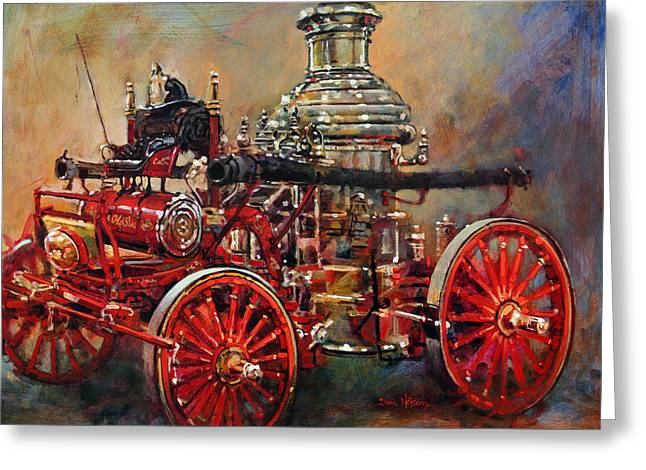 Charlotte Paintings Greeting Cards - Charlotte Steamer Greeting Card by Dan Nelson