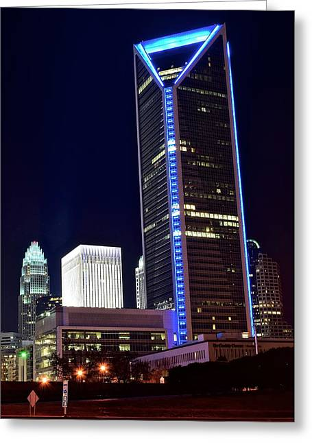 Downtown Charlotte Nc Greeting Cards - Charlotte Towers Greeting Card by Frozen in Time Fine Art Photography