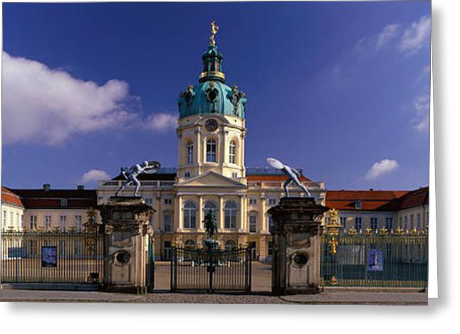 Berlin Germany Greeting Cards - Charlottenburg Palace Schloss Greeting Card by Panoramic Images