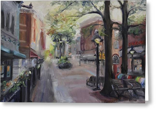 Virginia Artists Greeting Cards - Charlottesvilles Historic Downtown Mall Greeting Card by Donna Tuten