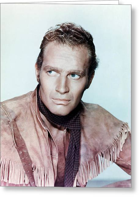 1950 Movies Greeting Cards - Charlton Heston in Pony Express  Greeting Card by Silver Screen