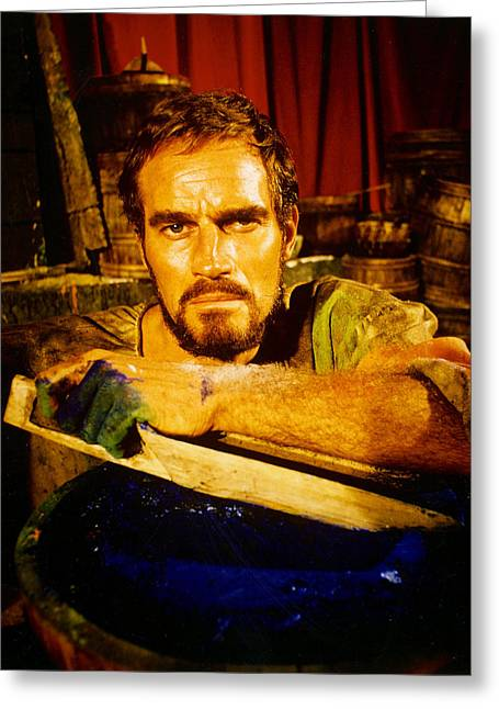 Agony Greeting Cards - Charlton Heston in The Agony and the Ecstasy Greeting Card by Silver Screen