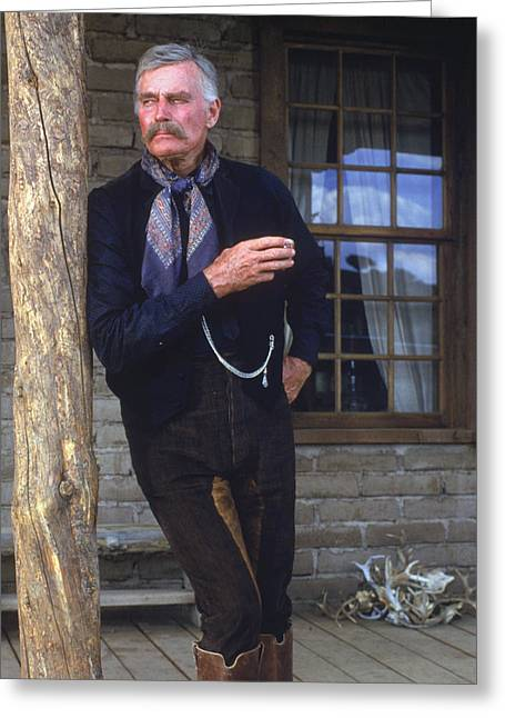Tombstones Greeting Cards - Charlton Heston in Tombstone  Greeting Card by Silver Screen