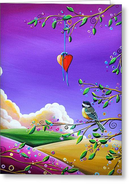 Illustrative Paintings Greeting Cards - Cherish Greeting Card by Cindy Thornton