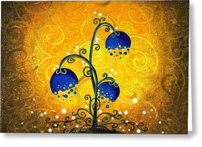 Flourished Greeting Cards - Charmed September Greeting Card by Cindy Thornton