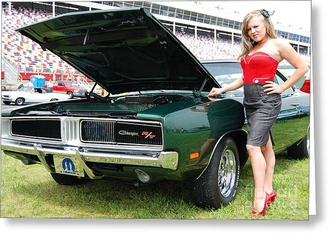 Mopar Greeting Cards - Charming Charger Greeting Card by Mark Spearman