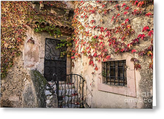 Southern France Greeting Cards - Charming Eza France Greeting Card by John Greim