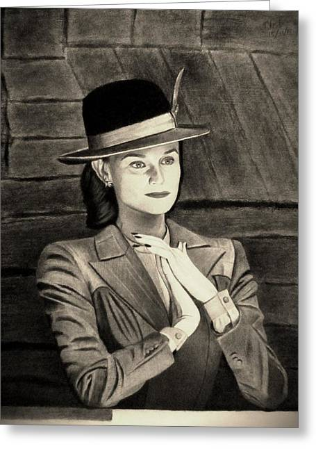 Basterds Greeting Cards - Charming Lady - Sepia Greeting Card by Vishvesh Tadsare