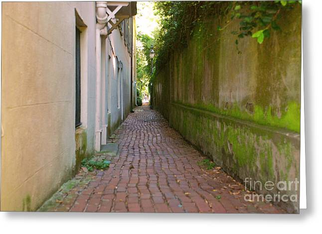 Charleston Pathway Greeting Cards - Charming Pathway Greeting Card by Lisa Moatts