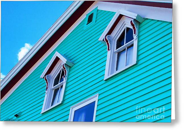 Beach Cottage Style Greeting Cards - Charming Sleepy Seaside Home Greeting Card by Patricia L Davidson