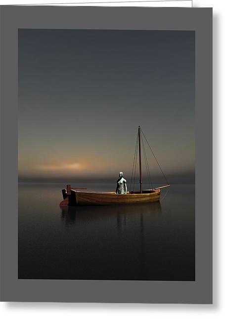 Underworld Human Greeting Cards - Charons boat  Greeting Card by Joaquin Abella