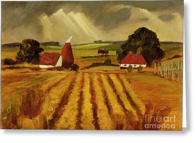Locations Paintings Greeting Cards - Chart Sutton Greeting Card by Eric Hains