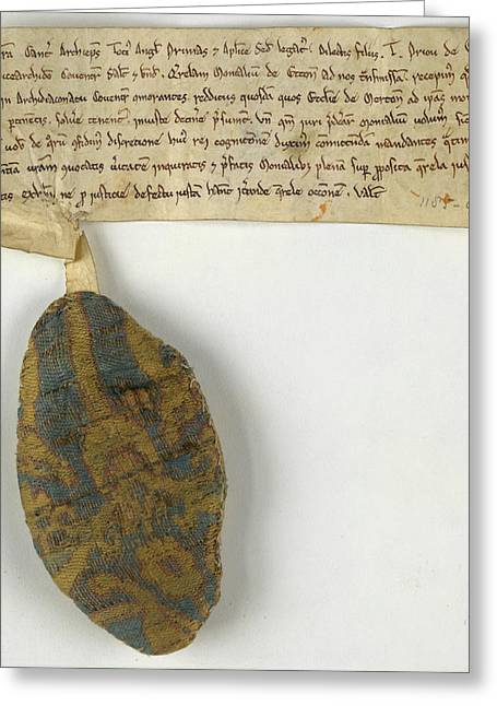 Charter Relating To Marton Greeting Card by British Library