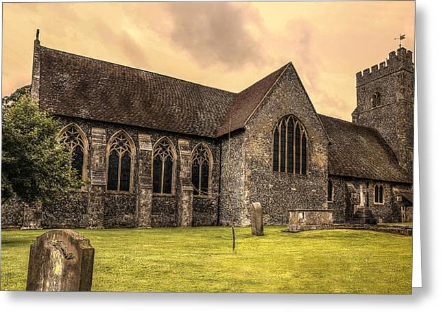 St Marys Greeting Cards - Chartham Church Greeting Card by Ian Hufton
