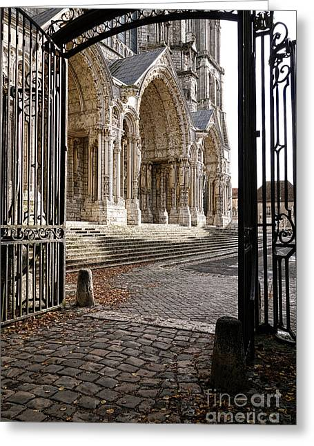 Medieval Entrance Photographs Greeting Cards - Chartres Cathedral North Transept Greeting Card by Olivier Le Queinec