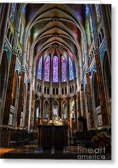 Chartres Greeting Card by Olivier Le Queinec