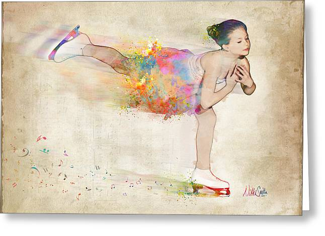 Figure Digital Art Greeting Cards - Chase Your Dreams Greeting Card by Nikki Smith