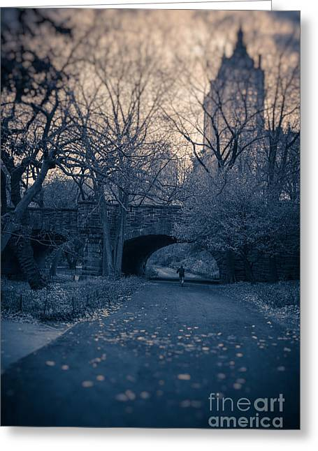 Tilt Greeting Cards - Chased Through Central Park Greeting Card by Edward Fielding