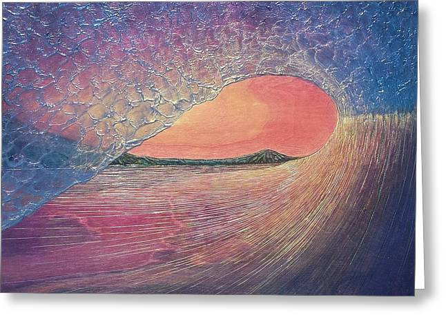 California Reliefs Greeting Cards - Chasing Daylight Greeting Card by Nathan Ledyard