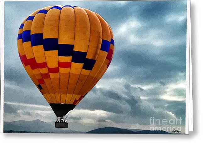 Foyer Greeting Cards - Chasing Hot Air Balloons Greeting Card by Glenn McCarthy Art and Photography
