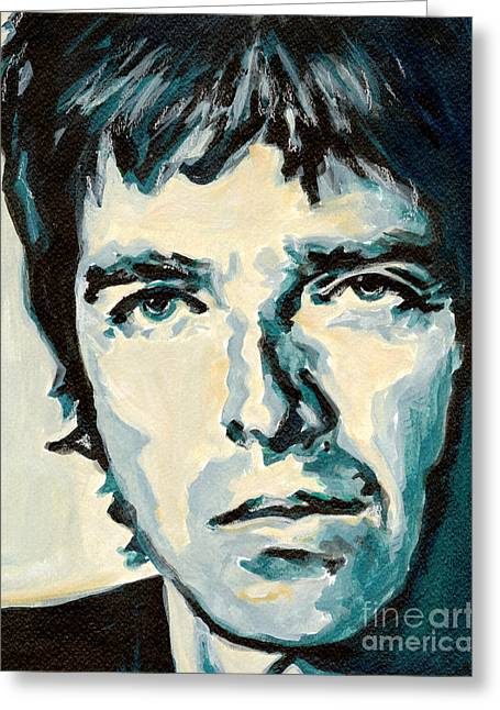 Tablets Greeting Cards - Noel Gallagher Greeting Card by Tanya Filichkin