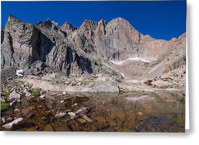 Prow Greeting Cards - Chasm Lake Greeting Card by Aaron Spong