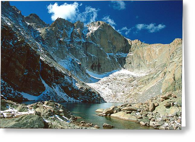 Chasm Lake Greeting Card by Eric Glaser