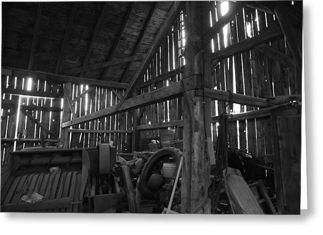 Houghton Farm Greeting Cards - Chassell Barn Greeting Card by Jenessa Rahn