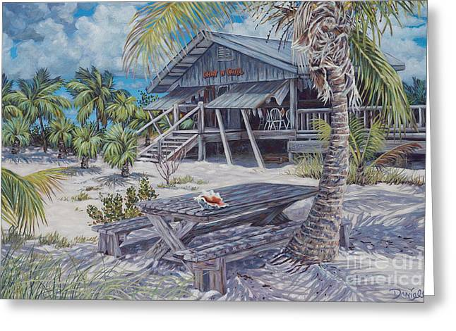 Beach White Posters Greeting Cards - Chat n Chill Greeting Card by Danielle  Perry