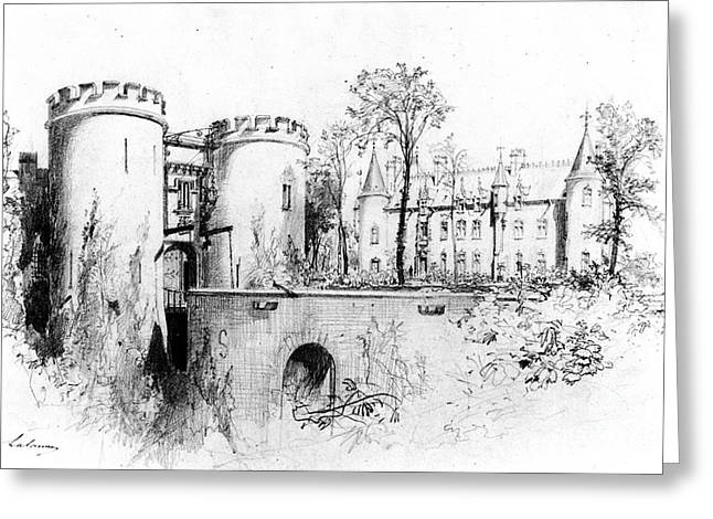 Lalanne Greeting Cards - Chateau a Liege 1847 Greeting Card by Padre Art