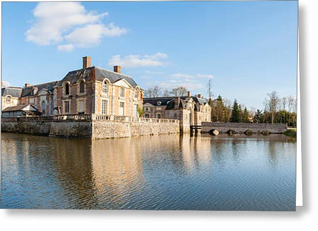 Chateau Greeting Cards - Chateau At La Ferte-saint-aubin Greeting Card by Panoramic Images