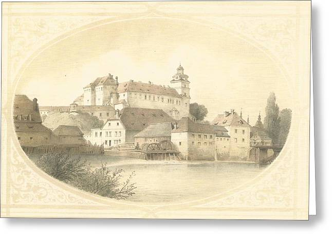 Chateau Brandys Nad Labem Greeting Card by Jenny Rainbow