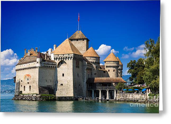 Chillon Greeting Cards - Chateau Chillon Greeting Card by Carsten Reisinger