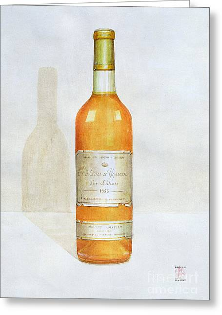 Labelled Greeting Cards - Chateau d Yquem Greeting Card by Lincoln Seligman