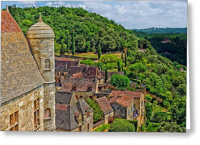 Chateau Greeting Cards - Chateau de Beynac - France Greeting Card by Mountain Dreams