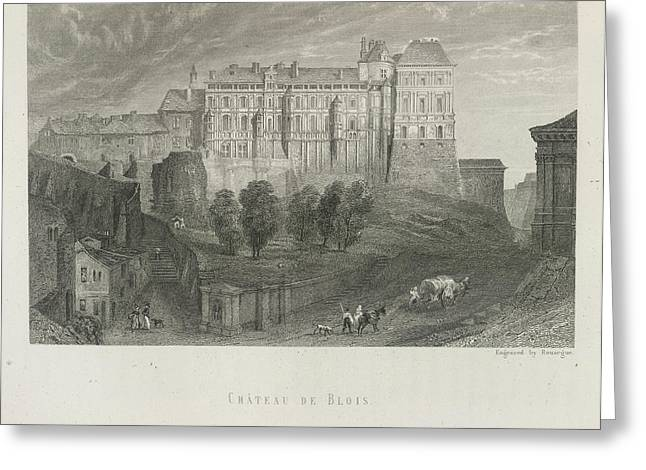 Chateau De Blois Greeting Card by British Library