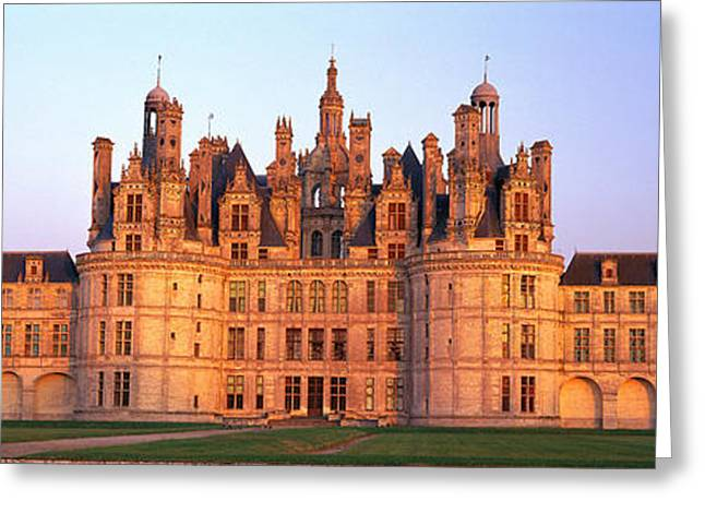 Chateau Greeting Cards - Chateau De Chambord Chambord Chateau Greeting Card by Panoramic Images