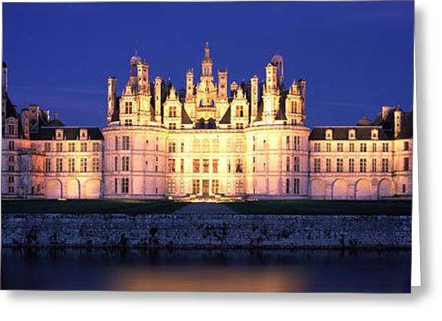 Chateau Greeting Cards - Chateau De Chambord Loire France Greeting Card by Panoramic Images