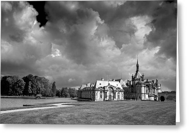 Chateau Pyrography Greeting Cards - Chateau de Chantilly Greeting Card by Jack Vainer