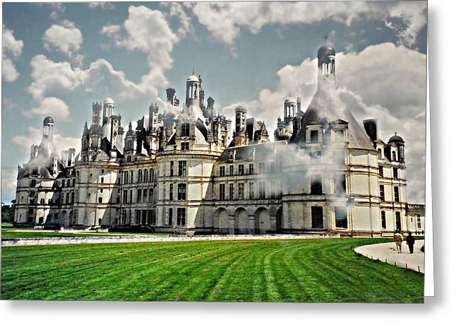 Castle In Valley Greeting Cards - Chateau de Chenonceau Greeting Card by Diana Angstadt