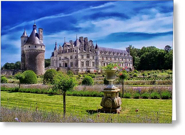 Chateau Greeting Cards - Chateau de Chenonceau Greeting Card by Mountain Dreams