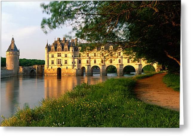 Chateau Greeting Cards - Chateau De Chenonceaux, Loire Valley Greeting Card by Panoramic Images