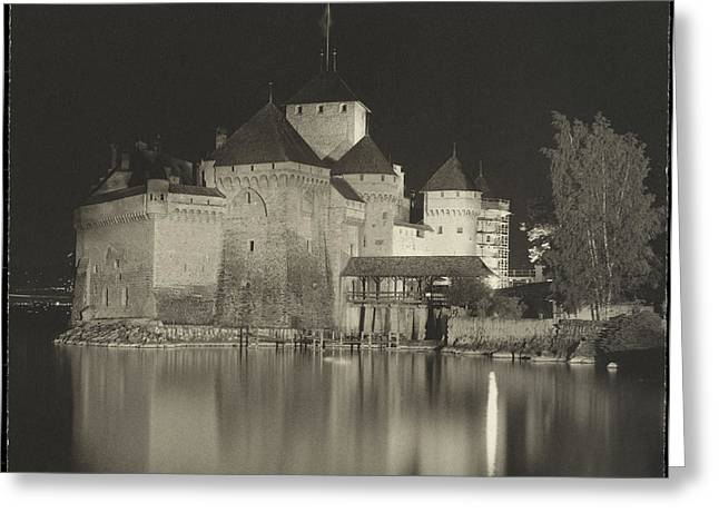 Chillon Greeting Cards - Chateau de Chillon  Greeting Card by Gary Auerbach