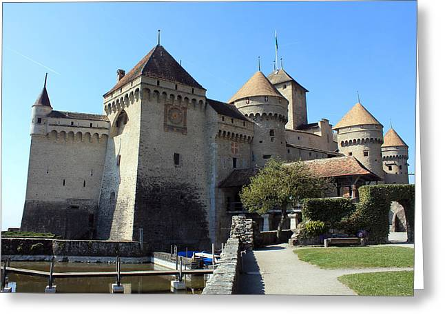Chillon Greeting Cards - Chateau de Chillon Greeting Card by Sergei Dikler